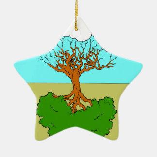 Ornement Étoile En Céramique arbre renversé