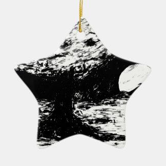 Ornement Étoile En Céramique arbre sur le titan