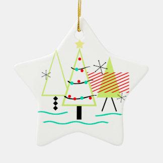 Ornement Étoile En Céramique arbres de Noël modernes de la moitié du siècle