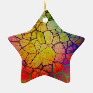 Ornement Étoile En Céramique Arc-en-ciel #2 abstrait