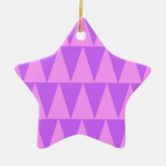 Ornement Étoile En Céramique Arrière - plan rose de pourpre de triangles