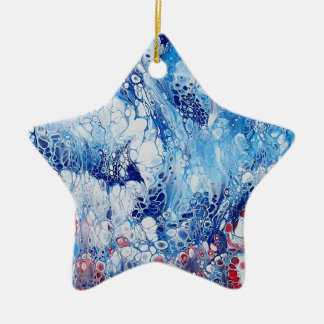 Ornement Étoile En Céramique Art abstrait patriotique sur l'ornement d'étoile