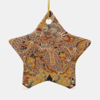 Ornement Étoile En Céramique Art chinois asiatique impérial de dragon de Ming