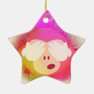 Ornement Étoile En Céramique Art créatif superbe de peinture de jet d'Emoji de