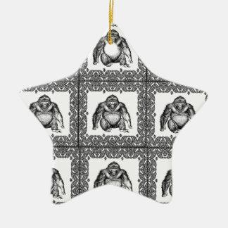 Ornement Étoile En Céramique art de cube en gorille