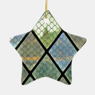 Ornement Étoile En Céramique Art de fenêtre