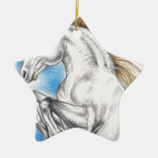 Ornement Étoile En Céramique Art de licorne