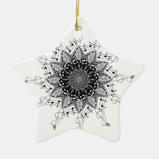 Ornement Étoile En Céramique Art de mandala