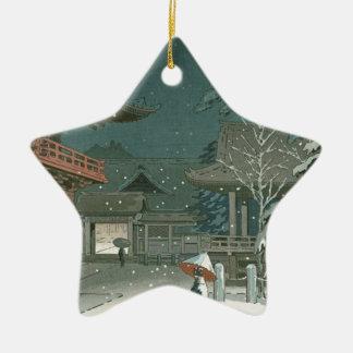 Ornement Étoile En Céramique Art de Shin Hanga de vente de tombeau de Koitsu