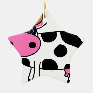 Ornement Étoile En Céramique art de vache