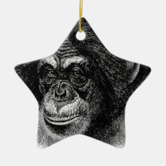 Ornement Étoile En Céramique Art principal de chimpanzé