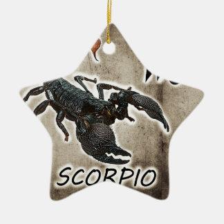 Ornement Étoile En Céramique astrologie 2017 de Scorpion