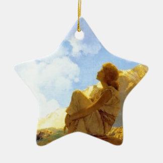 Ornement Étoile En Céramique Au-dessus de l'arc-en-ciel