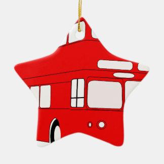 Ornement Étoile En Céramique autobus