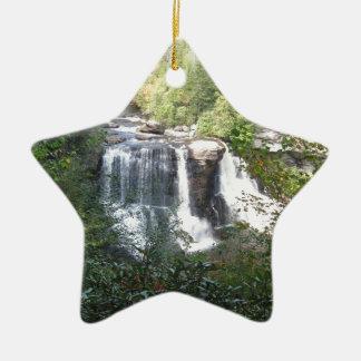 Ornement Étoile En Céramique Automnes de Blackwater, la Virginie Occidentale