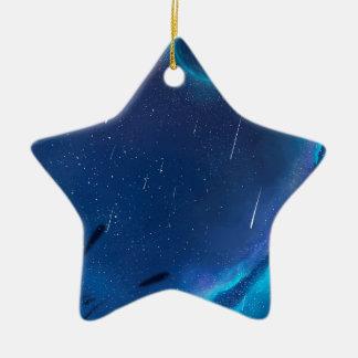Ornement Étoile En Céramique Avec la bénédiction des étoiles