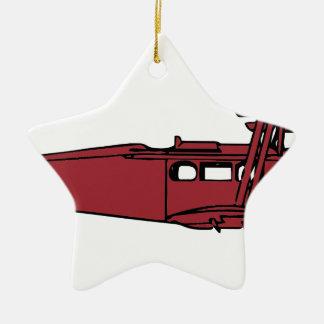 Ornement Étoile En Céramique Avion rouge