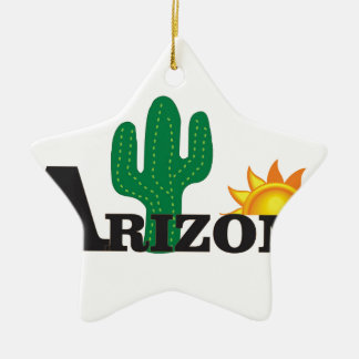 Ornement Étoile En Céramique Az de cactus