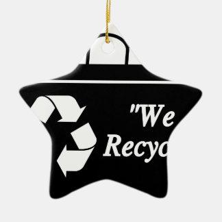 Ornement Étoile En Céramique Bac de recyclage