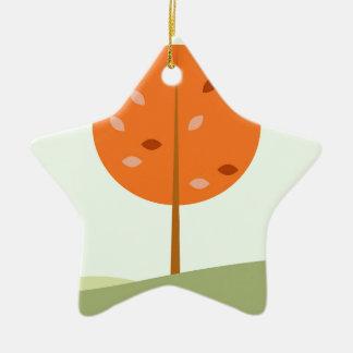 Ornement Étoile En Céramique Badine le T-shirt avec l'orange d'arbre