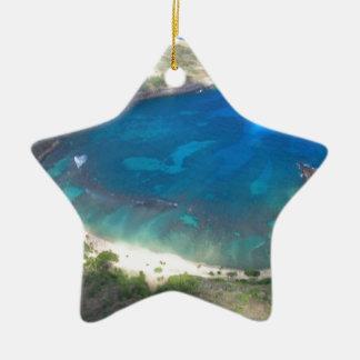 Ornement Étoile En Céramique Baie Hawaï de Hanauma
