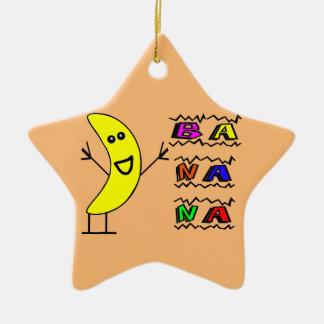 Ornement Étoile En Céramique Banane heureuse