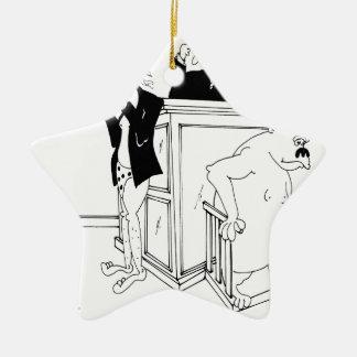 Ornement Étoile En Céramique Bande dessinée 5490 de cour