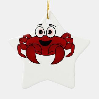Ornement Étoile En Céramique Bande dessinée de crabe