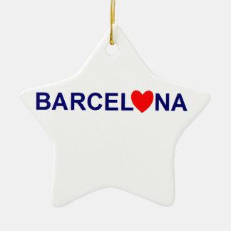 Ornement Étoile En Céramique Barcelona love
