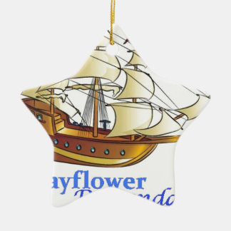 Ornement Étoile En Céramique Bateau de navigation de descendant de fleur
