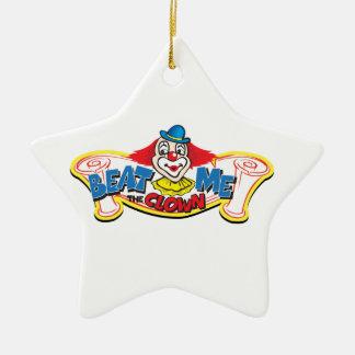 Ornement Étoile En Céramique Battez-moi le clown