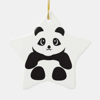 Ornement Étoile En Céramique Bel ours panda