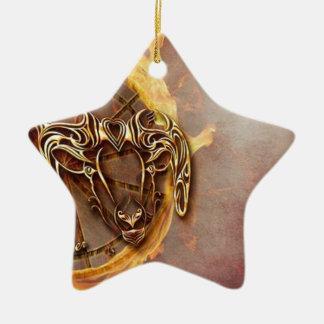 Ornement Étoile En Céramique Bélier de signe de zodiaque