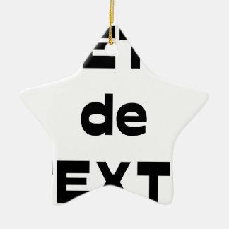 Ornement Étoile En Céramique Bête de Texte - Jeux de Mots - Francois Ville