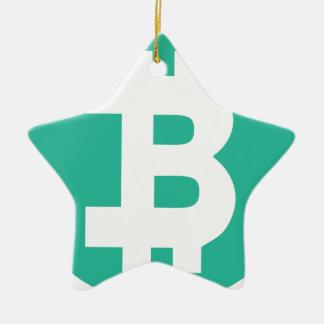 Ornement Étoile En Céramique Bitcoin