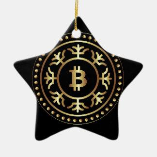 Ornement Étoile En Céramique Bitcoin 2
