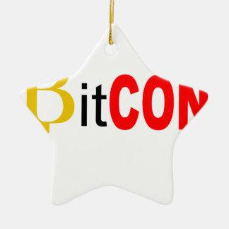 Ornement Étoile En Céramique BitCON