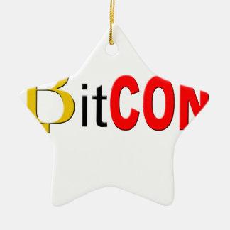Ornement Étoile En Céramique BitCON 3D