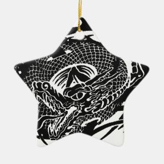 Ornement Étoile En Céramique Black Dragon 2.gif