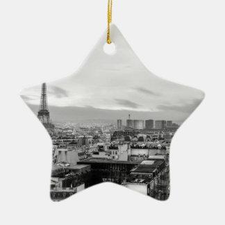 Ornement Étoile En Céramique Black&White: Eiffel Tower, Paris, France