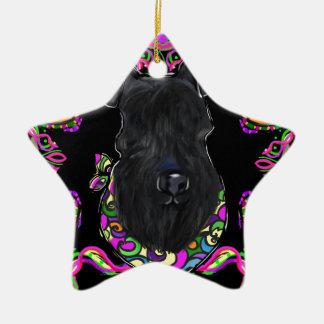 Ornement Étoile En Céramique Bleu de Kerry Terrier
