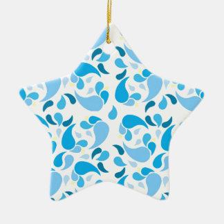 Ornement Étoile En Céramique Bleus d'été