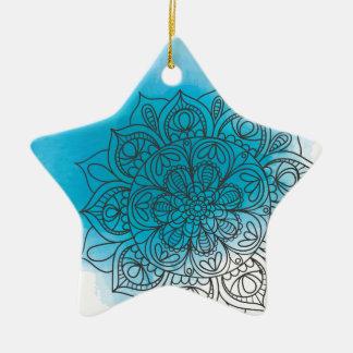 Ornement Étoile En Céramique Blue l'envoyez