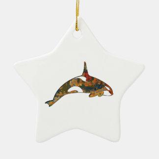 Ornement Étoile En Céramique Bonheur d'orque