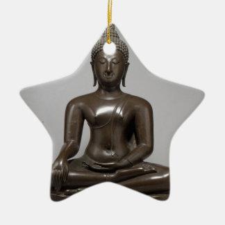 Ornement Étoile En Céramique Bouddha assis - XVème siècle