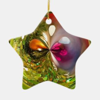 Ornement Étoile En Céramique boule verte