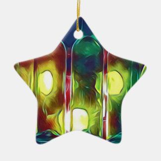 Ornement Étoile En Céramique Bouteilles de vin artistiques multicolores
