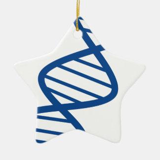 Ornement Étoile En Céramique Brin d'ADN