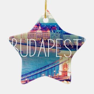 Ornement Étoile En Céramique Budapest, vintage affiche
