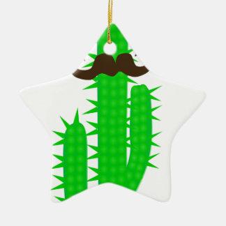 Ornement Étoile En Céramique cactus